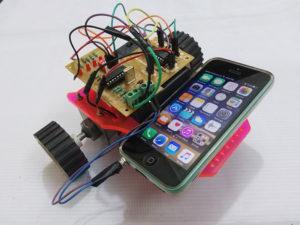 mobile controlled robot roboduino