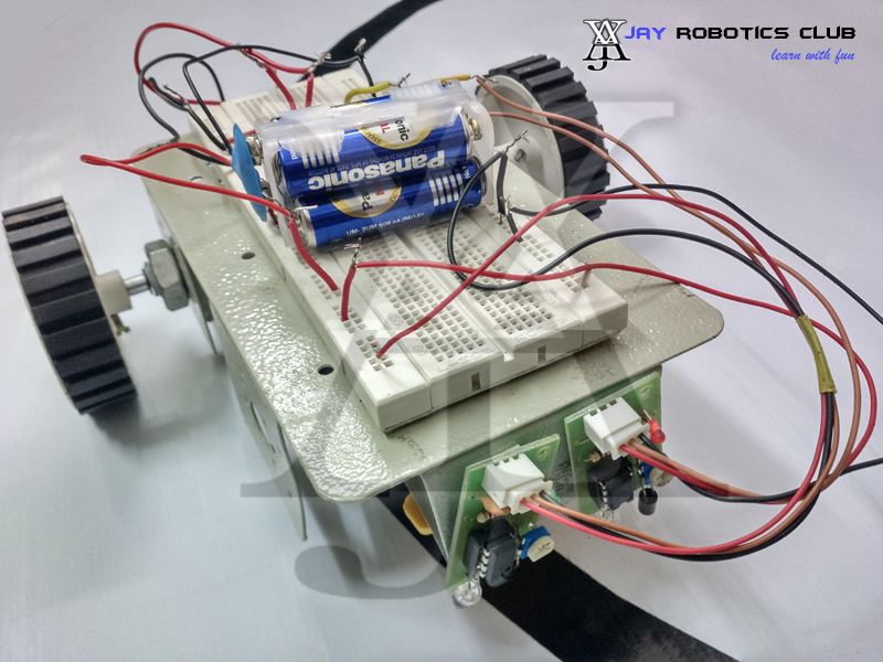 line following robot without microcontroller