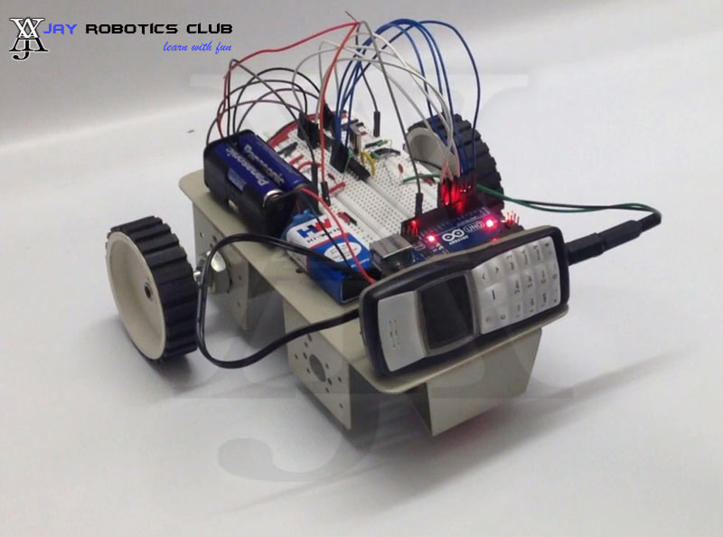 mobile controlled robot using arduino